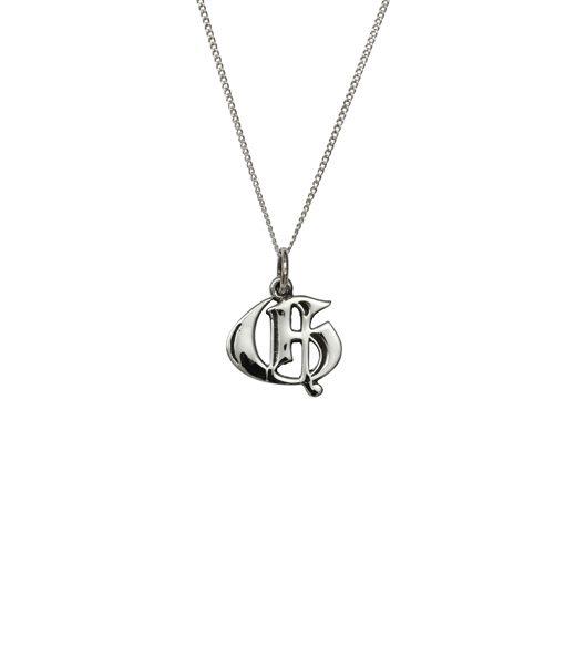 Love Letter G Charm Necklace - Femme metale