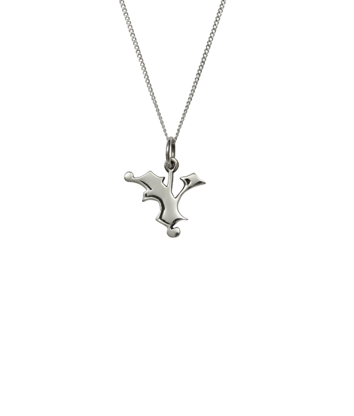 Love Letter Y Charm Necklace - Femme metale